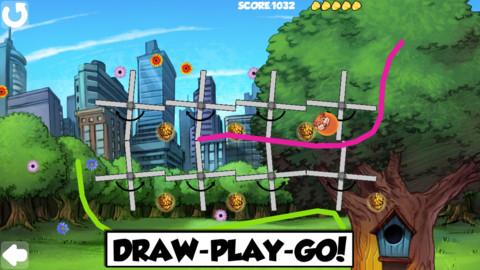 Comic Book Hero - Magic Line Rider Game screenshot 2