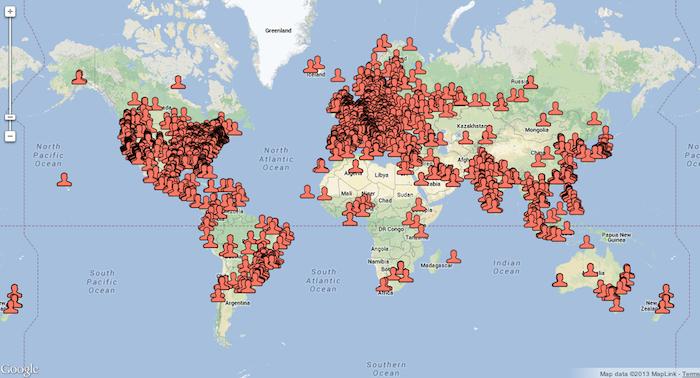 Worldwide Corona Users screenshot