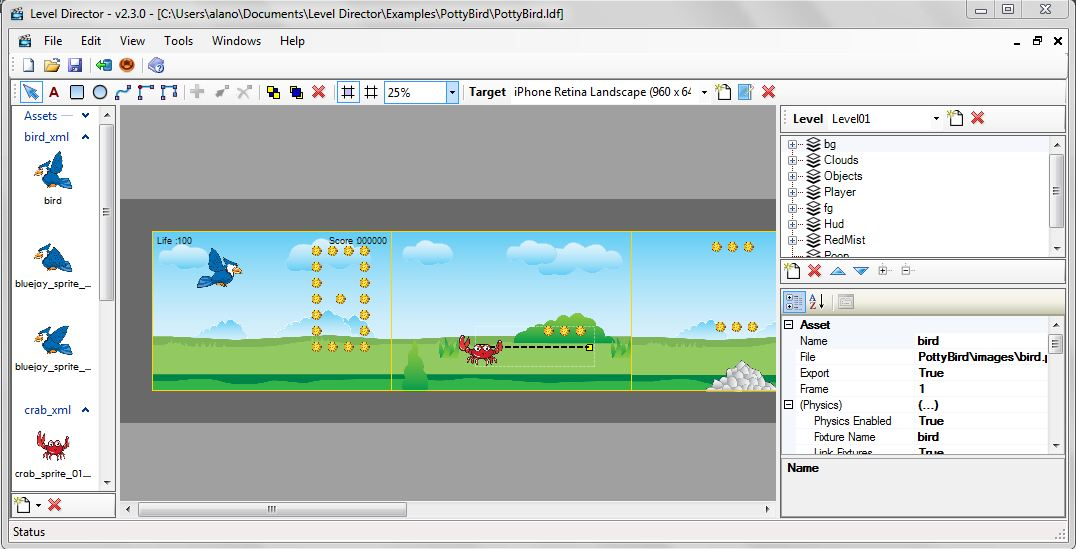 Screenshot from Level Director
