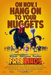 Free Birds Yellow Poster