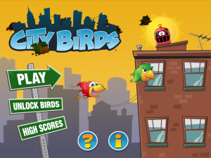 Redesigned menu screen - City Birds
