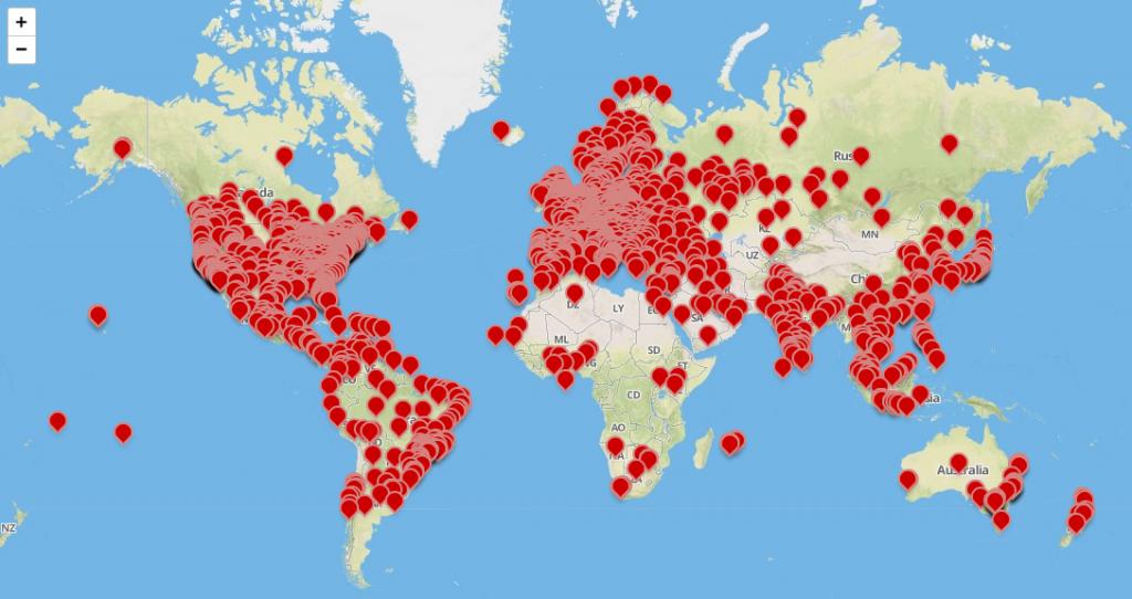 Corona Worldwide map
