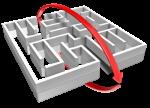 shortcut thru maze