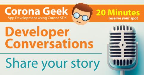 Corona Geek Developer Conversations Promo
